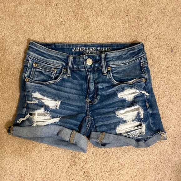 American Eagle Outfitters Pants - AE Ripped Denim Shorts